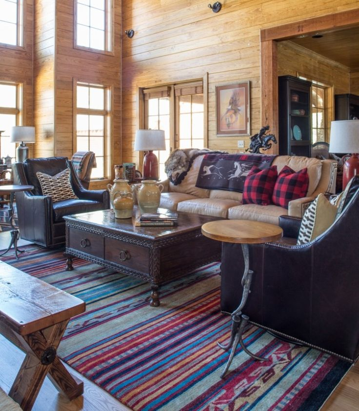 Cozy, rustic great room