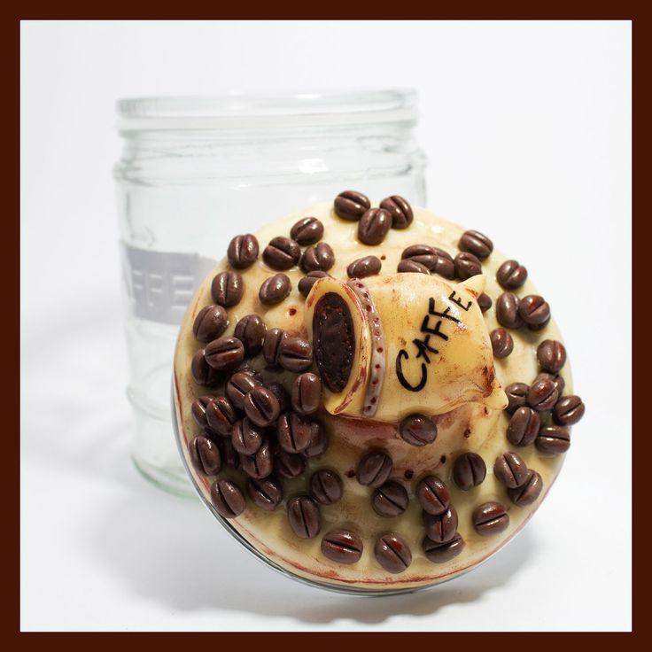 Porta caffè, decorati in pasta di mais. F@atto a Mano.