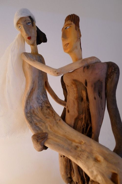 Love. / Driftwood art. / Art du bois flotté. / By Nicole Agoutin.