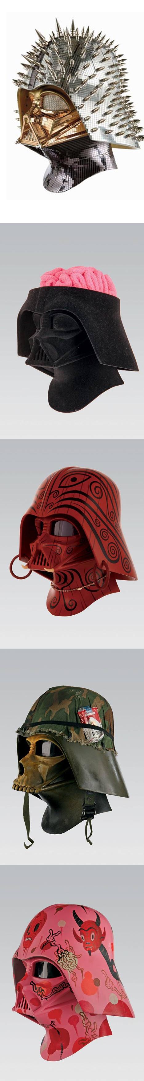 THE 100 HELMETS OF THE VADER PROJECT: PLASTICGOD: Bling, Temple, Darth Vader, Vader Helmets, Project Starwars, Vader S Helmet, Star Wars But, 100 Helmets, Andy Warhol