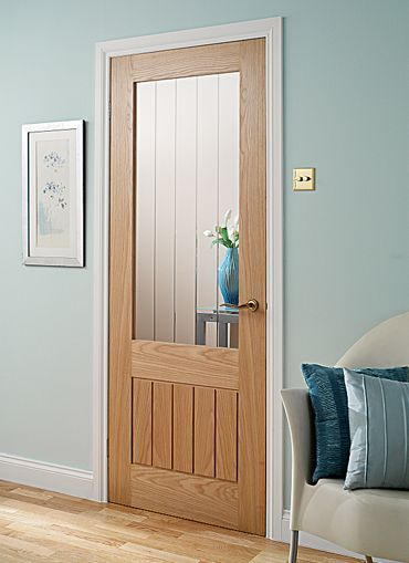 Interior Door, Oak with white trim