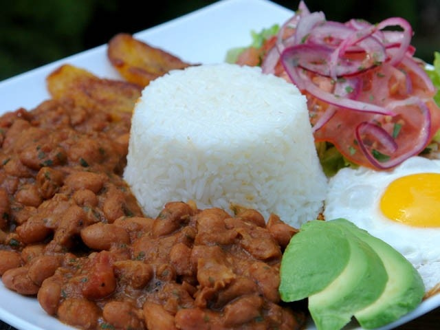 "This rice and bean plate is one of the many recipes from ""Laylita's Recipes."""