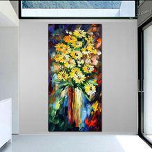 Желтые Цветы МАСТИХИНОМ Натюрморт Современного Искусства Home Decor Картина Маслом На Холсте Расписанную искусство(China (Mainland))