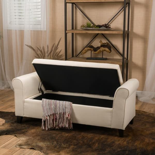 Torino Fabric Storage Ottoman Bench by Christopher Knight Home