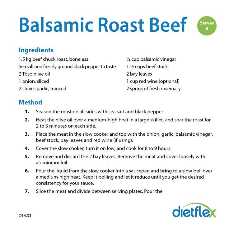 Balsamic Roast Beef #HealthyRecipes #dietflex
