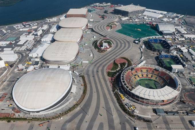 Vista aérea das instalações olímpicas da Rio 2016