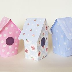Make these springy bird house - template + tutorial