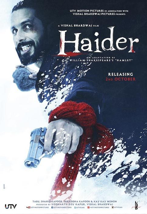 HAIDER is intense packed with emotions, another masterpiece stroke by Vishal Bhardwaj & staring Shahid Kapoor. Haider is based on William Shakespeare's Play Hamlet