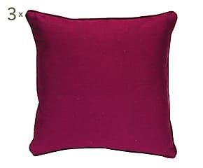 3 Coussins STAR coton, aubergine - 40*40