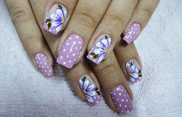 Ver Diseños De Uñas Uñas Con Flores Imagenes De Uñas