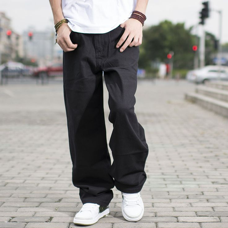 Size 46 44 42 40 Big Men Black Jeans Loose Fit Designer Jeans For Men Hip Hop Style Jeans Baggy Skateboard Pants Large Size men navy * Details on product can be viewed on AliExpress website by clicking the image