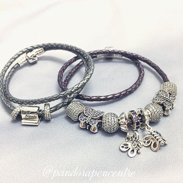 Happy National Best Friends Day! #pandora #pandorajewelry #pandoracharm #bestfriends #leather #charm #silver #purple #nationalbestfriendsday #bff #stcatharines #instafashion