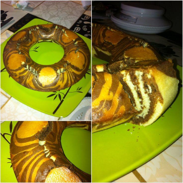 gâteau zébré ou zébra cake !