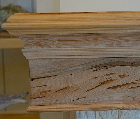 Detail Of Pecky Cypress Mantel Michael Grant Designs
