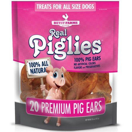 Pig Ears for Dog by Real Piglies 20-Count Pig Ears