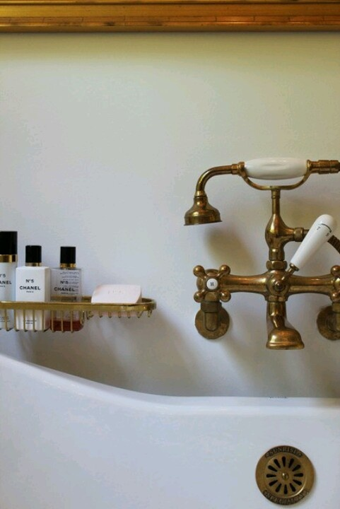 Gorgeous Brass Bathtub Faucet With Chanel No 5