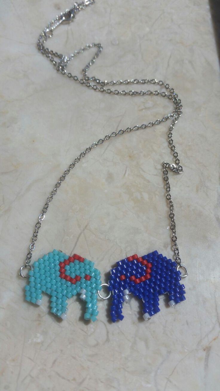 Miyuki kolye ucu fil kardeşler