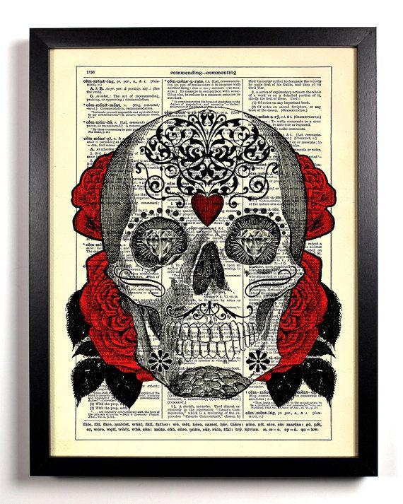 Hey, diesen tollen Etsy-Artikel fand ich bei https://www.etsy.com/de/listing/129429089/sugar-skull-2-day-of-the-dead-umgewidmet