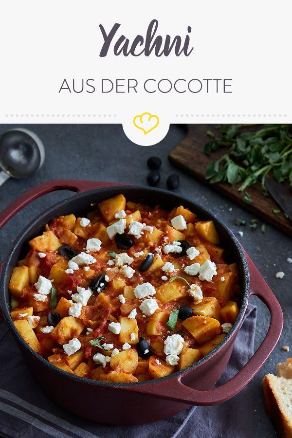 Griechischer Yachni – Herzhafter Veggie-Eintopf mit Kartoffeln, Oliven und Feta – Soul Kitchen – Ein Herz für Klassiker