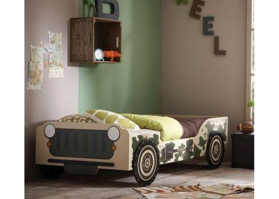 Soldaten jeep autobed voor jongens, model Army | Kinderbedden