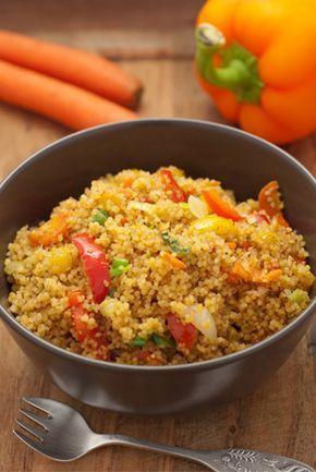 Schnell gekocht: Gemüse-Couscous mit Frühlingszwiebeln