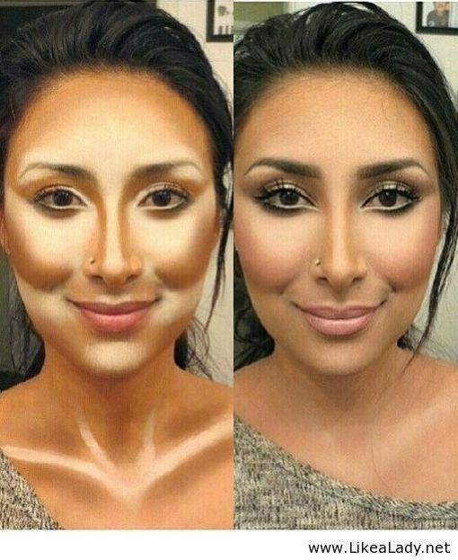 Contouring- For photos, special events. Not for everyday wear.