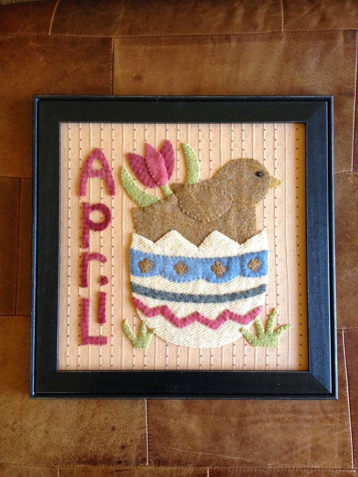 """April from the """"Year in Stitches Collection"""""""