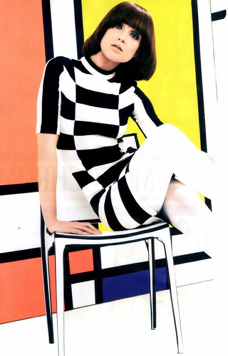 Mod fashion, Look magazine, 1960s                                                                                                                                                                                 More