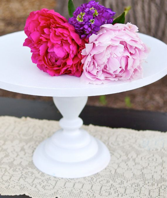 10 inch Cake Stand or Cupcake Stand by RitaMarieWeddings on Etsy