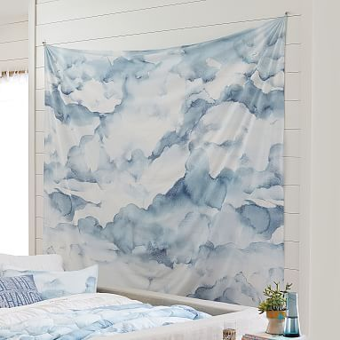 Watercolor Cloud Tapestry #pbteen