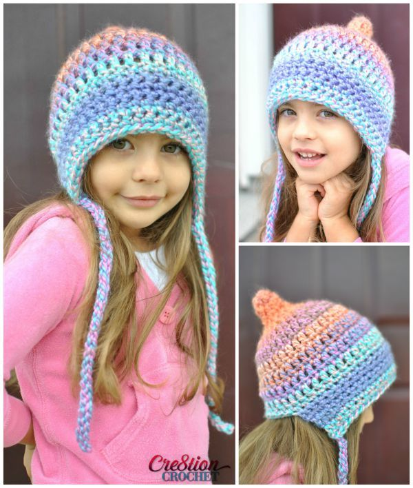 Crochet this adorable pixie bonnet style hat in 3 sizes with Lion Brand Unique! Free pattern by Cre8tion Crochet calls for 1 ball of Unique in Mirage and a size M/N (9 mm) crochet hook.