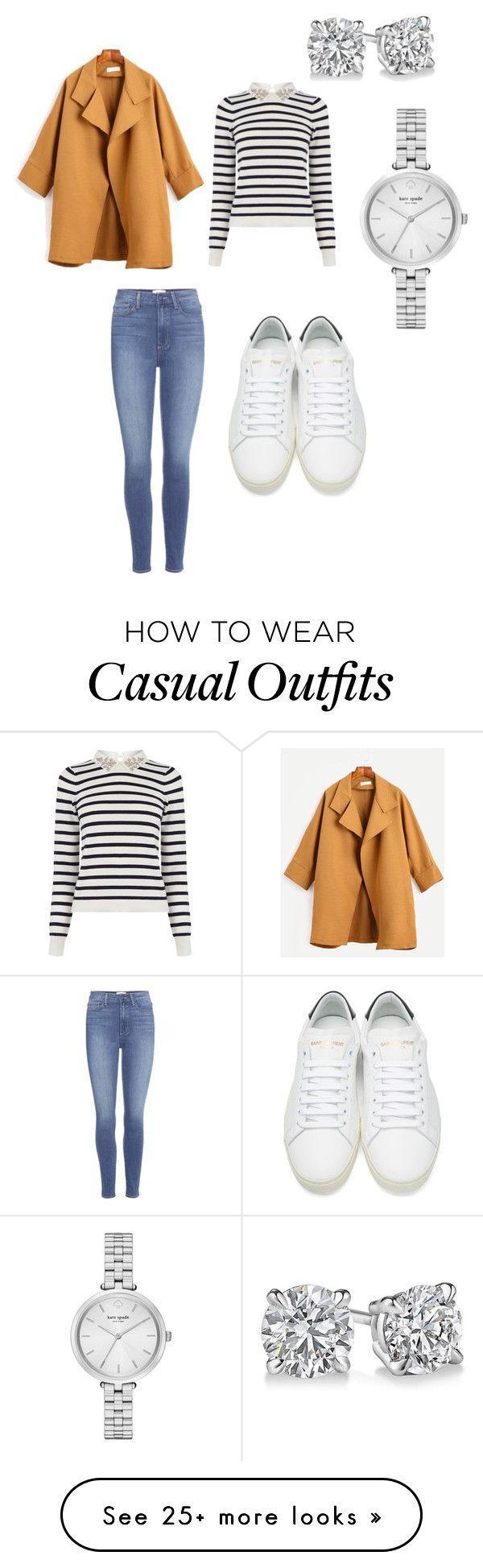 """Casual day out"" by georgina-jacob on Polyvore featuring Oasis, Paige Denim, Yves Saint Laurent and Kate Spade"