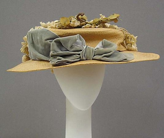 Hat Date: ca. 1905 Culture: American Medium: straw, silk, cotton Dimensions: Diameter: 17 1/2 in. (44.5 cm) Height: 3 1/2 in. (8.9 cm) Credit Line: Purchase, Judith and Ira Sommer Gift, 2006 Accession Number: 2006.28
