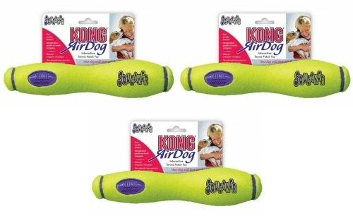 Kong Air Dog Squeaker Fetch Stick Medium 3pk - Chew Toys #Dogs #Dog #Pets #Pet #Gift #Gifts #Christmas #Holiday #Holidays #Present #Presents #Accessories #Dog #Dogs #Chew #Toys #Toy