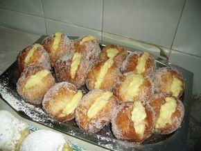 Bolas fritas espolvoreadas con azúcar, se pueden rellenar con dulce de leche o crema pastelera. Seguro que les pasa cuando van a comprar las facturas, ven estas bolas rellenas y no se pueden resist...