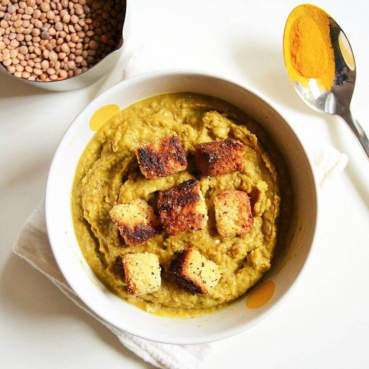 Zuppa di zucca, lenticchie e curry #ricetteaquadretti #thisishome