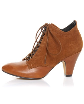Crew Gramy Tan Suede Lace-Up Bootie pumps