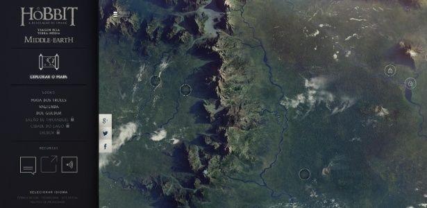 """Google lança mapa da Terra Média, de """"O Hobbit"""" e """"O Senhor dos Anéis"""" - 25/11/2013 - UOL Entretenimento"""
