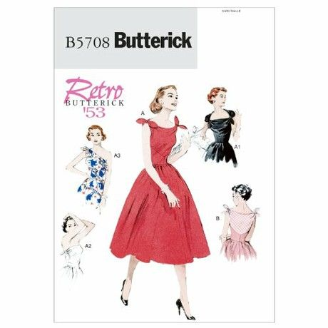 Butterick Patterns B5708 Size A5 6-8-10-12-14 Misses' Dress, Pack of 1, White