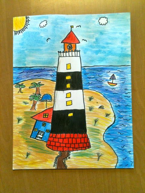 Color It Like you MEAN it!: 4th grade lighthouses