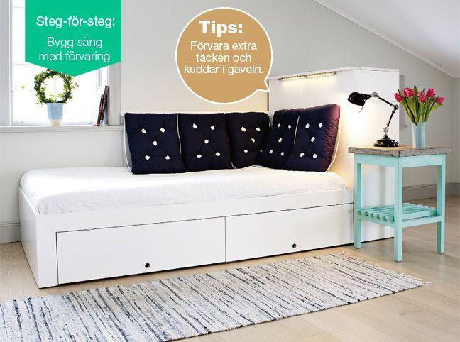 Bygg säng med förvaring http://www.clasohlson.com/se/a/Bygg-s%C3%A4ng-med-f%C3%B6rvaring/bilaga_se_11