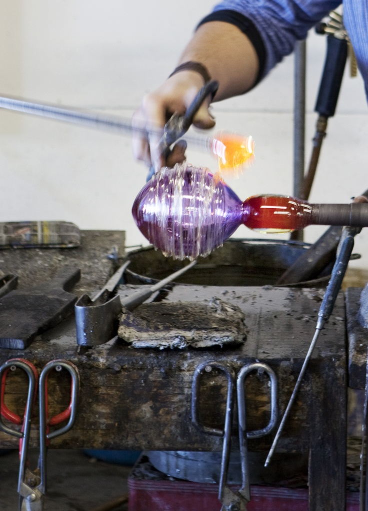 Glass blowing Red Hot Glass at Spice Route Paarl