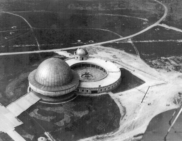 The Silesian Planetarium and Astronomical Observatory in Chorzow by Zbigniew Solawa in 1955. Is the largest and oldest planetarium in Poland.