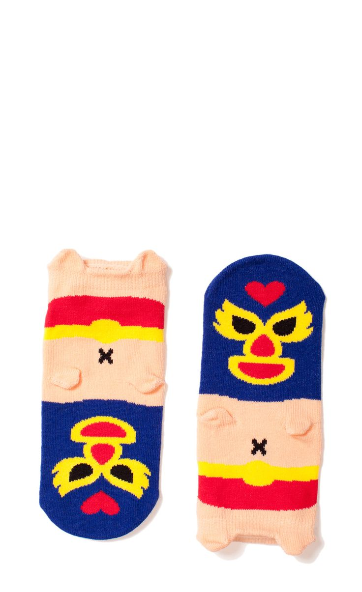 Um these Mexican wrestler socks are about the coolest/cutest things I've seen in a while