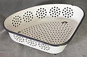 Vintage Enamelware Corner Strainer. Click on the image for more  information.