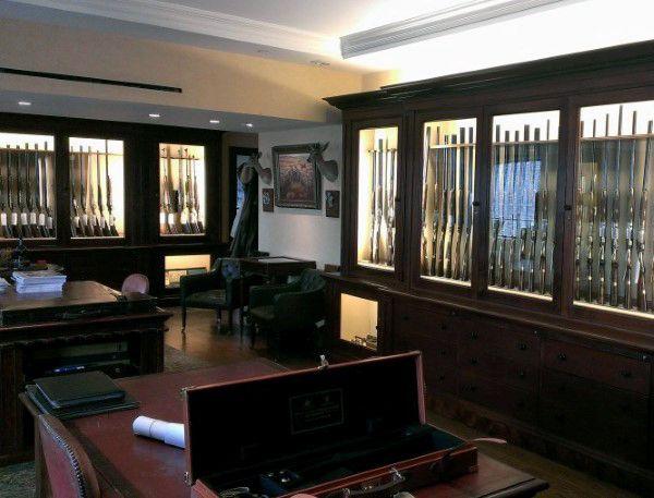 434 best gun room images on pinterest hunting hunting for Gun room design
