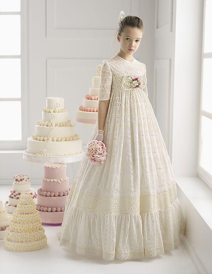 MIRIAM vestido de comunión Rosa Clara