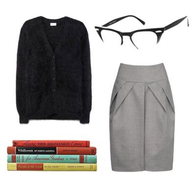 Librarian costume // You mean, my regular wardrobe? Doable. Totally doable.