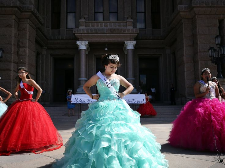 With Speeches And Bright Dresses, Quinceañeras Protest Texas Sanctuary City Ban : The Two-Way : NPR