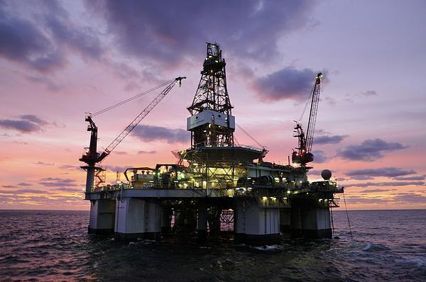 Ocean Endeavor at Sunrise © Bradford Martin #FineArtAmerica #OILRIGS Offshore Oil Rig Drilling Platform,#OilRigs